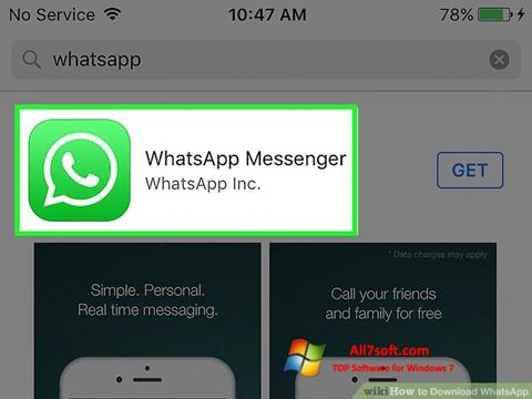 Posnetek zaslona WhatsApp Windows 7