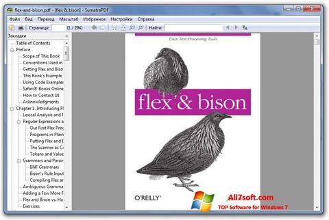 Posnetek zaslona Sumatra PDF Windows 7