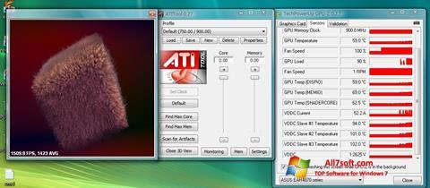 Posnetek zaslona ATITool Windows 7