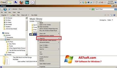 Posnetek zaslona MagicISO Windows 7