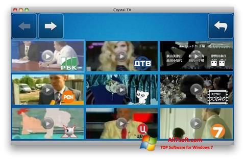 Posnetek zaslona Crystal TV Windows 7