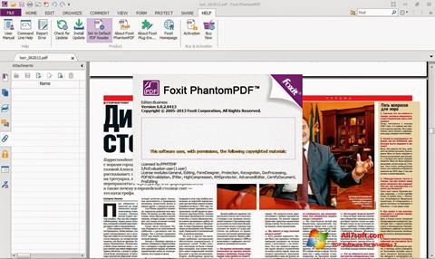 Posnetek zaslona Foxit Phantom Windows 7