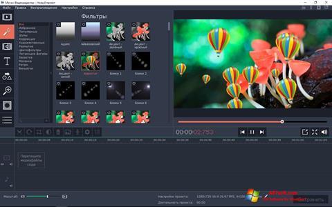 Posnetek zaslona Movavi Video Editor Windows 7