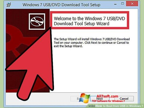 Posnetek zaslona Windows 7 USB DVD Download Tool Windows 7