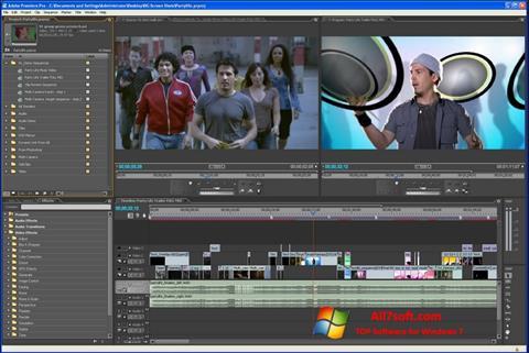 Posnetek zaslona Adobe Premiere Pro Windows 7