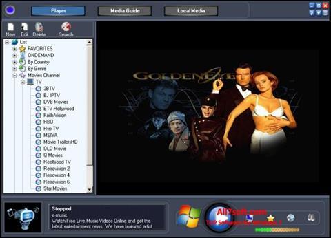 Posnetek zaslona Online TV Live Windows 7