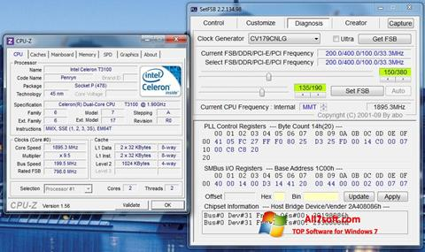 Posnetek zaslona SetFSB Windows 7