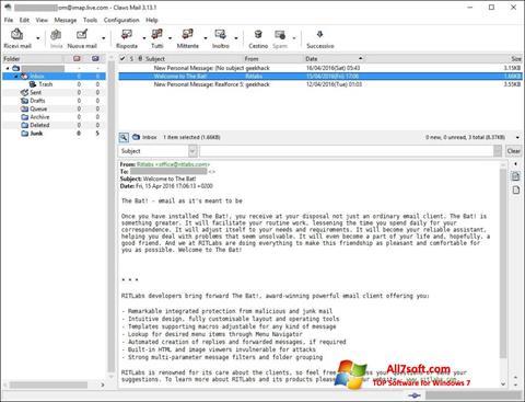 Prenos Claws Mail Windows 7 (32/64 bit) Slovenski