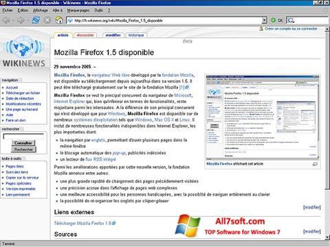 Posnetek zaslona Mozilla Firefox Windows 7