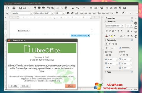 Posnetek zaslona LibreOffice Windows 7