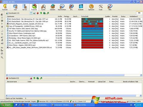 Posnetek zaslona eMule Windows 7