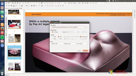 Posnetek zaslona Master PDF Editor Windows 7