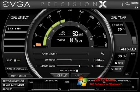 Posnetek zaslona EVGA Precision X Windows 7