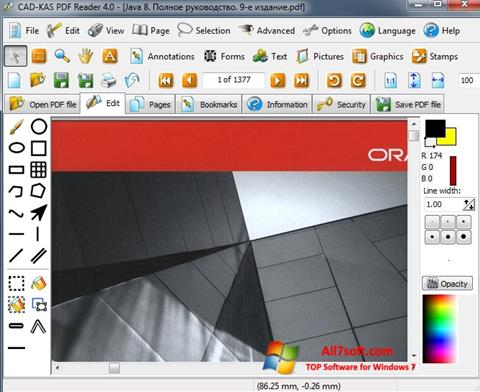 Posnetek zaslona PDF Reader Windows 7