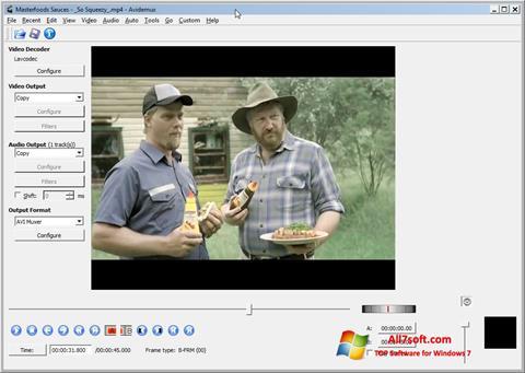 Posnetek zaslona Avidemux Windows 7