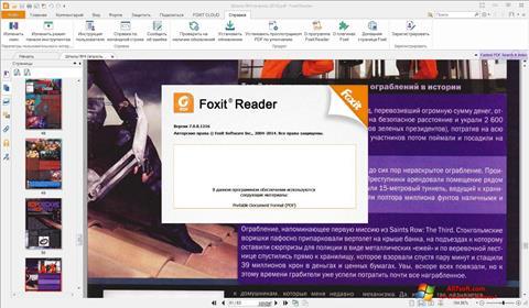 Posnetek zaslona Foxit Reader Windows 7