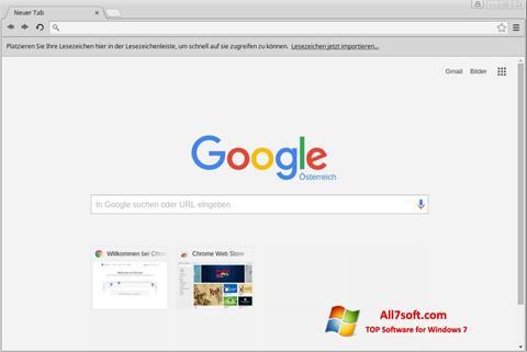 Posnetek zaslona Google Chrome Windows 7