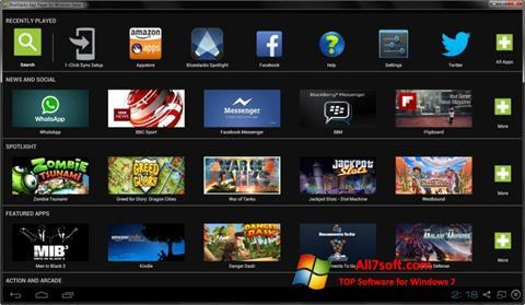 Posnetek zaslona BlueStacks Windows 7