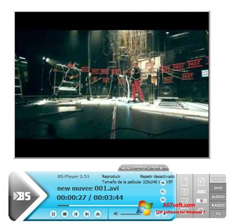 Posnetek zaslona BSPlayer Windows 7
