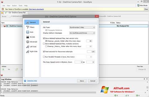 Posnetek zaslona GoodSync Windows 7
