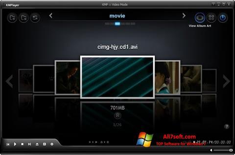 Posnetek zaslona KMPlayer Windows 7