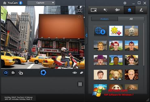 Posnetek zaslona CyberLink YouCam Windows 7
